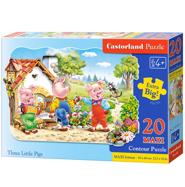 Castorland Puzzle Tri prasiatka, 20 dielikov