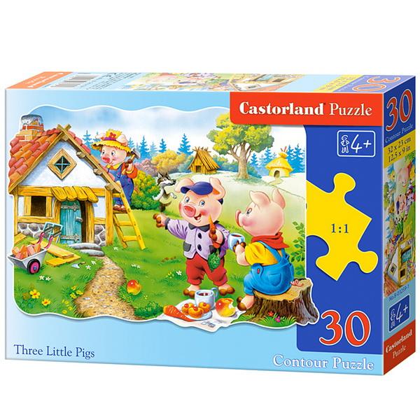 Castorland Puzzle Tri prasiatka, 30 dielikov
