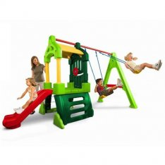 Little Tikes Clubhouse Swing Set Natural