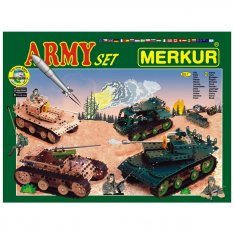 Merkur Army set, 677 ks, 40 modelov