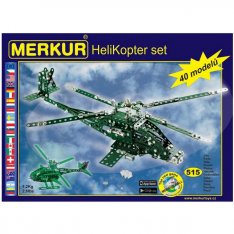 Merkur HeliKopter set, 486 ks, 40 modelov