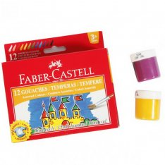 Faber Castell Temperové farby, 12 x 15 ml