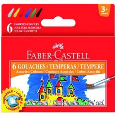 Faber Castell Temperové farby, 6 x 15 ml