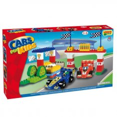 Unico stavebnica Cars for Kids Preteky F1, 61 ks