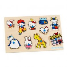 SES Hello Kitty - Drevené puzzle