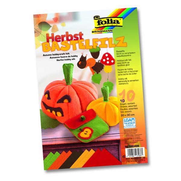 4947c9b27c Folia Filcové farebné hárky A4 Jesenné
