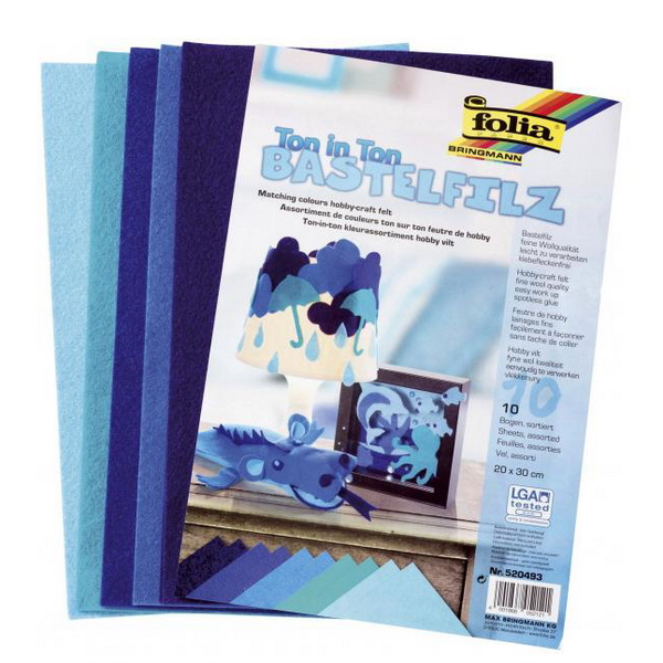 bf89e43b3e Folia Filcové modré hárky A4
