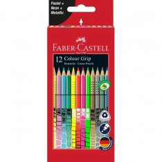 Faber Castell Pastelky Grip 12 ks - mix farieb